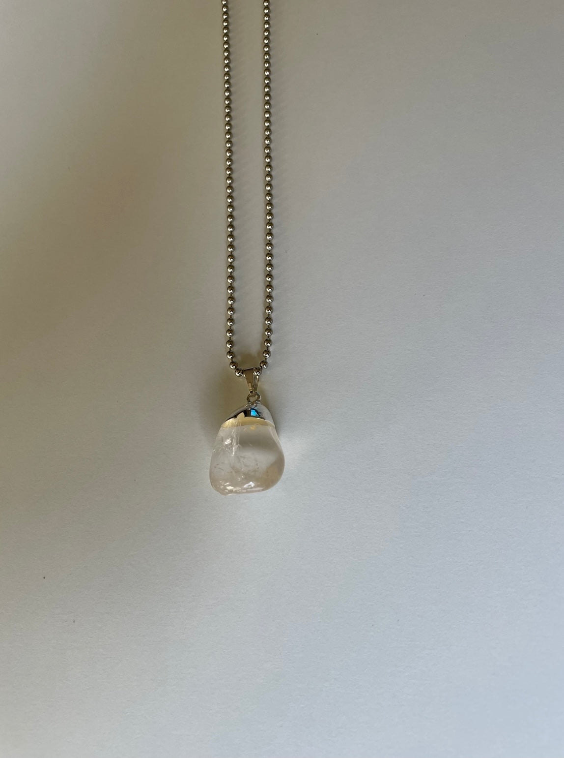 Heavy Medal clear quartz necklace