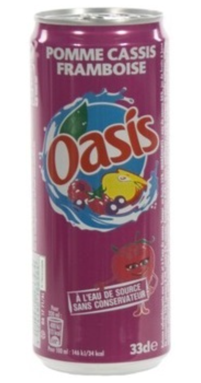 Oasis Fruits /Pomme Cassis Canette - 330ml - 12pcs