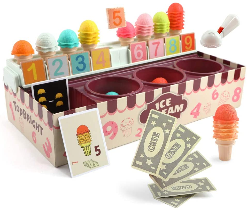 Stacking Ice Cream Box - Children Pretend Play Toy