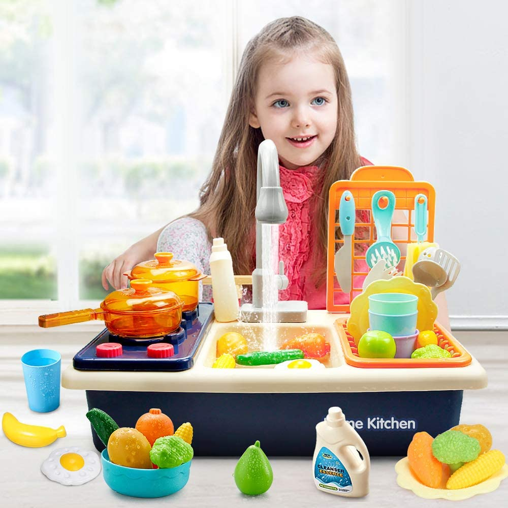 Kitchen Sink Playset - Children Pretend Play Toys