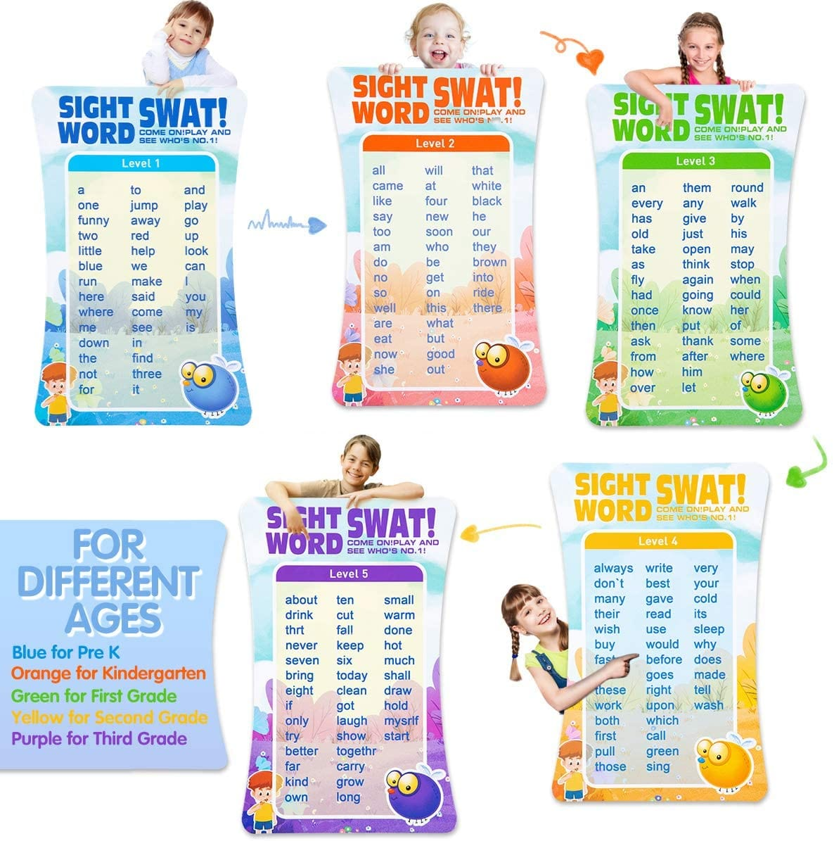 Swat a Sight Word Game - Educational Learning Toy