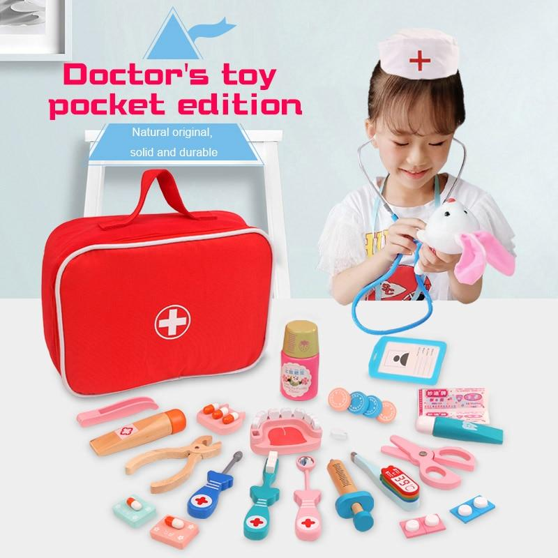 Wooden Doctor Set - Children Pretend Play Toy Set