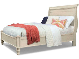 Cal King White Sleigh Headboard **HEADBOARD ONLY** #4041