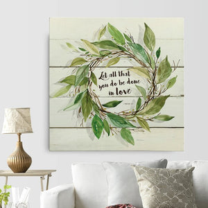 Corinthians Wreath by Carol Robonson Graphic Art on Wrapped Canvas #4027