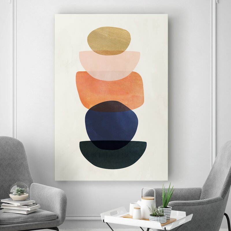 'Mod Pods II' - Graphic Art Print on Canvas 7639