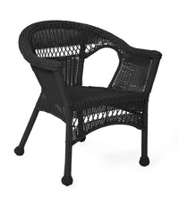Load image into Gallery viewer, Easy Care Resin Wicker Chair in Black *THIS IS THE SMALL CHAIR ONLY** #9880