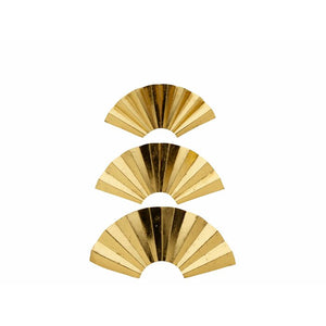 Gold Ruffled Fan Wall Décor (Three Piece Set in One Box) #9904