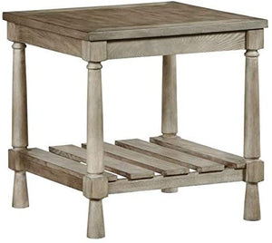 Progressive Furniture Chastain Park Square End Table in Weathered Linen 7515