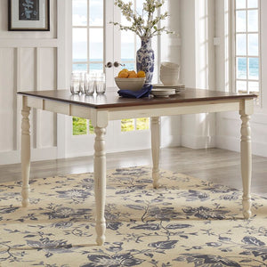 Itchington Butterfly Rubberwood Solid Wood Leaf Dining Table