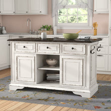 Load image into Gallery viewer, Tiphaine Kitchen Island with Granite Top