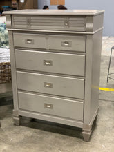 Load image into Gallery viewer, Gray Vasilikos Antique 5 Drawer Chest