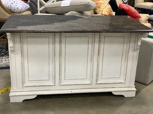Tiphaine Kitchen Island with Granite Top