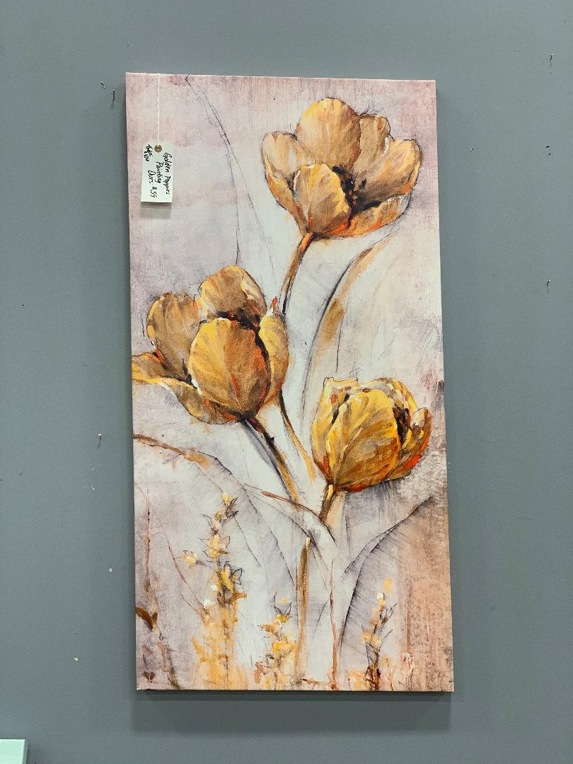 Golden Poppies Painting