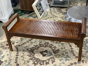 Nelson Wood Bench with Cushion