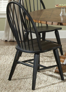 Hearthstone Black Windsor Back Side Chair set of 2 7759