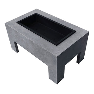 Monolith Fire Basin in Light Gray Cement 7484