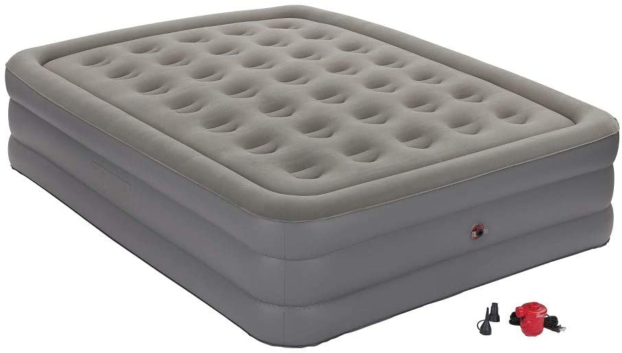 Coleman GuestRest Double High Air Mattress with Built-In-Pump Twin - Gray #9044