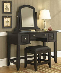 Bedford Black Vanity Bench by Home Styles 7009