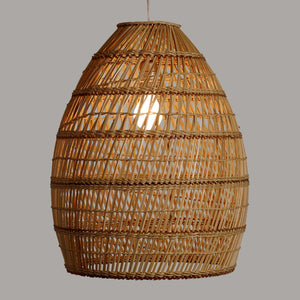 Basketweave Bamboo Pendant Shade #4030