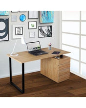 Load image into Gallery viewer, Computer Desk with Storage and File Cabinet, in Pine #6014