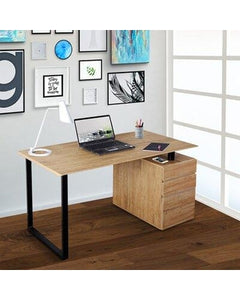 Computer Desk with Storage and File Cabinet, in Pine #6014