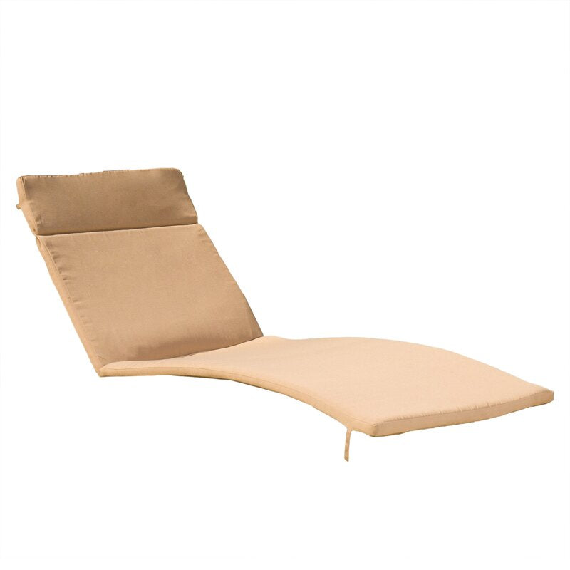 Tallulah Down Indoor/Outdoor Chaise Lounge Cushion (2), Color: Caramel, #6556