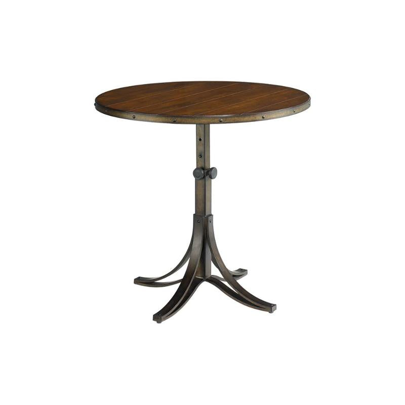 Hammary Mercantile Round Adjustable Accent Table, #6602