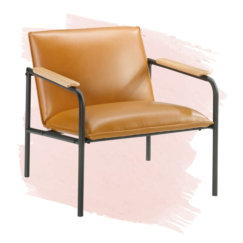 Irene Armchair, Color: Camel, #6611