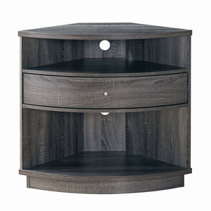 Distressed gray Hodge Corner Unit Bookcase, #6626