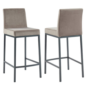 Imboden Counter Stool (Set of 2), Color: Gray, #6630
