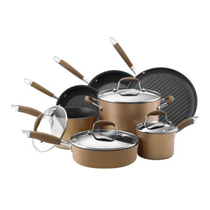 Anolon Advanced 11 Piece Stainless Steel Non Stick Cookware Set, #6645