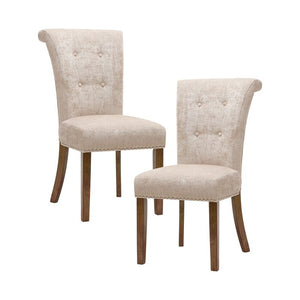 Olivier Upholstered Dining Chair (Set of 2), Color: Cream, #6656