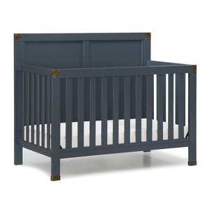 Baby Relax Miles 5-in-1 Convertible Crib, Color: Graphite Blue, #6729