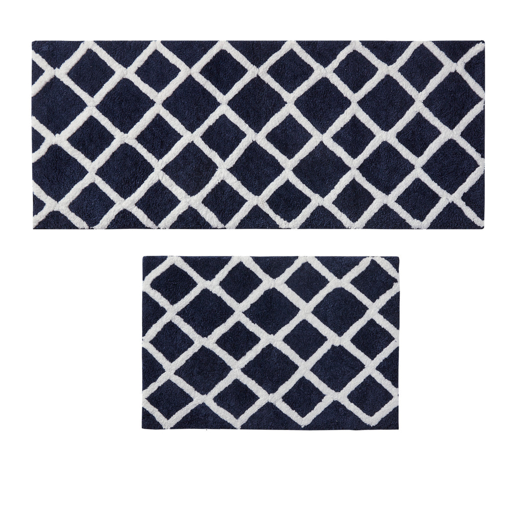 Reversible High Pile Tufted Microfiber Bath Rugs, #6779