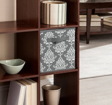 Load image into Gallery viewer, ClosetMaid 3254 Cubeicals Fabric Drawer, Gray Damask HA9738