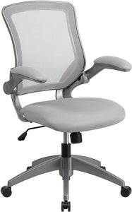 Mid-Back Gray Mesh Swivel Office Chair #9920