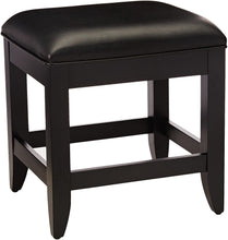 Load image into Gallery viewer, Bedford Black Vanity Bench by Home Styles 7009