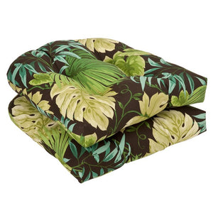 Floral Indoor/ Outdoor Dining Chair Cushions - Set of 2 - #9830ha