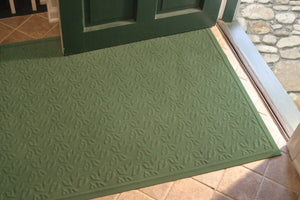 Mattox Dogwood Leaf Non-slip Indoor Door Mat- Montego Green 3' x 5' #9889ha