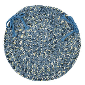 "Annet Dining Chair Cushion- set of 4 Blue 15"" #9931ha"