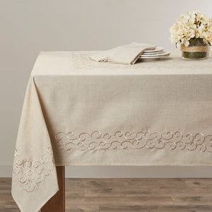 "Armstrong Scroll Design Tablecloth- 104"" x 67"" #9939ha"