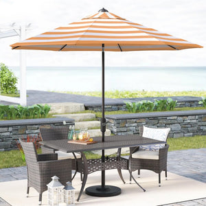 9' Market Umbrella #4233 Orange/White Stripe