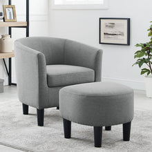Load image into Gallery viewer, Adisen Cloud Barrel Chair and Ottoman 7535