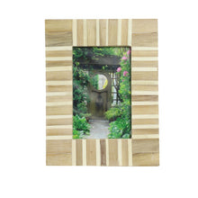 Load image into Gallery viewer, Ahern Rectangular Striped Resin and Wood Picture Frame (Set of 2) HA9746