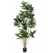 Load image into Gallery viewer, Artificial Foliage Rubber Tree in Pot #9110