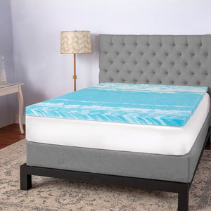 "Biopedic 3"" Gel Swirl Memory Foam Twin Mattress Topper 7695"