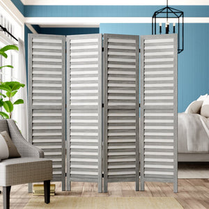 Gray Bozeman 4 Panel Room Divider 7604
