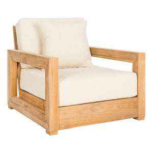 Teak Patio Chair with Cushions #9131