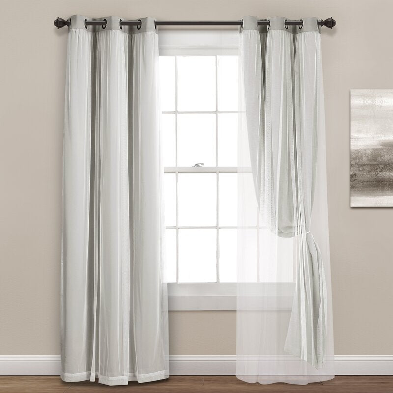 Busselton Solid Blackout Thermal Grommet Curtain Panels (Set of 2) 7566