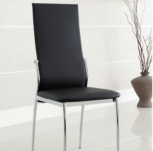 Kona Modern Black & Chrome Side Chair (Set of Two in One  Box) #9924